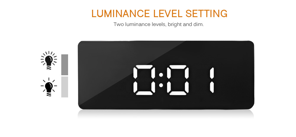 LED Alarm Clock Digital Electronic LED Mirror Clock Multifunction Temperature Snooze Large Display Home Decor Despertador Reveil 14