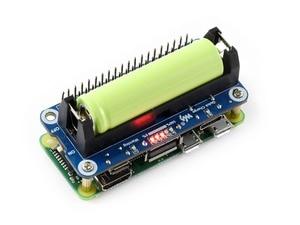 Image 1 - Waveshareリチウムイオンバッテリー帽子ラズベリーパイ 5 安定化出力双方向急速充電統合SW6106 電源銀行チップ