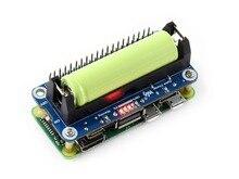 Waveshare chapeau de batterie Li ion pour Raspberry Pi 5V, sortie régulée, bidirectionnelle, Charge rapide, intègre une puce SW6106 batterie externe