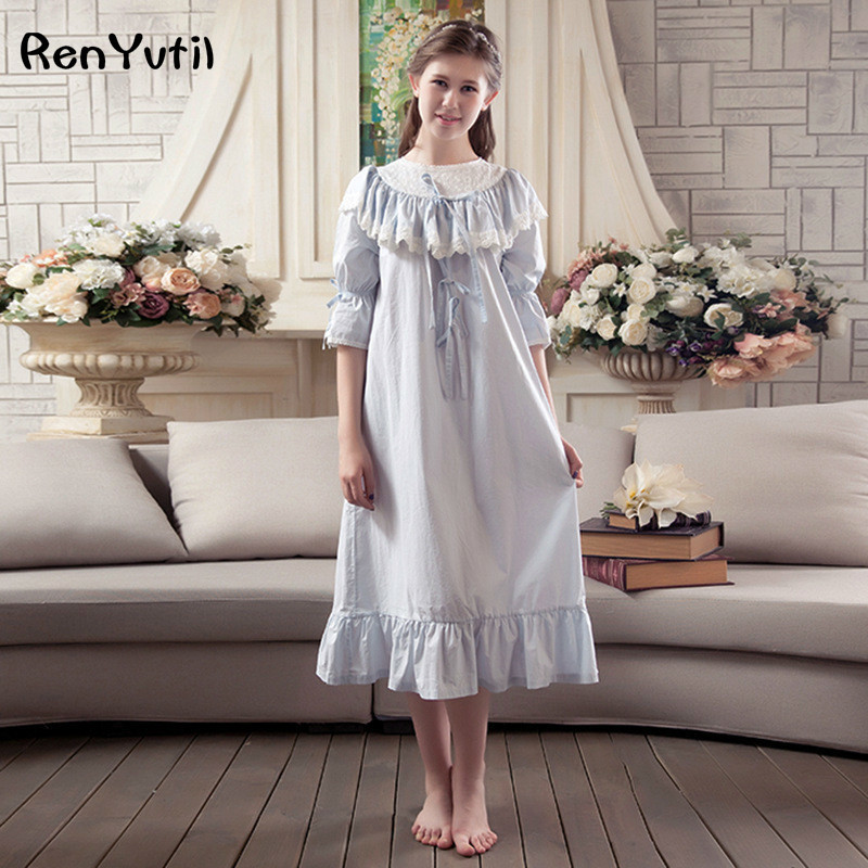 c92f6b1203 Detail Feedback Questions about RenYvtil Women's Valentines Gift Victorian  Martha Vintage Nightgown Lightweight Cotton Nightshirt Flounced Embroidery  ...