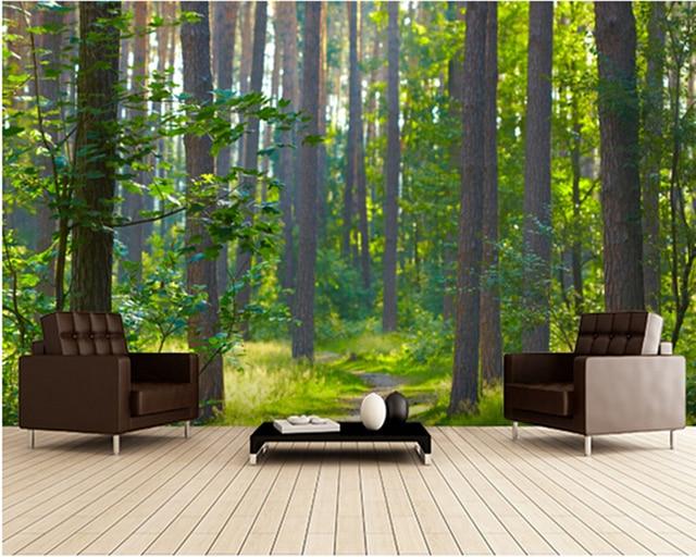 Benutzerdefinierte Landschaft Tapeten Wald Sonnenaufgang 3d