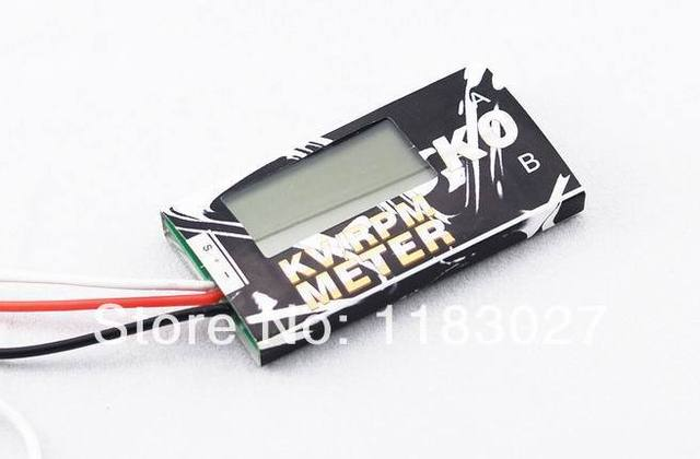 Free Shipping KV/RPM Meter (K0) /Measure the RPM and KV for BL Motors/Measure the Voltage of the battery Pack