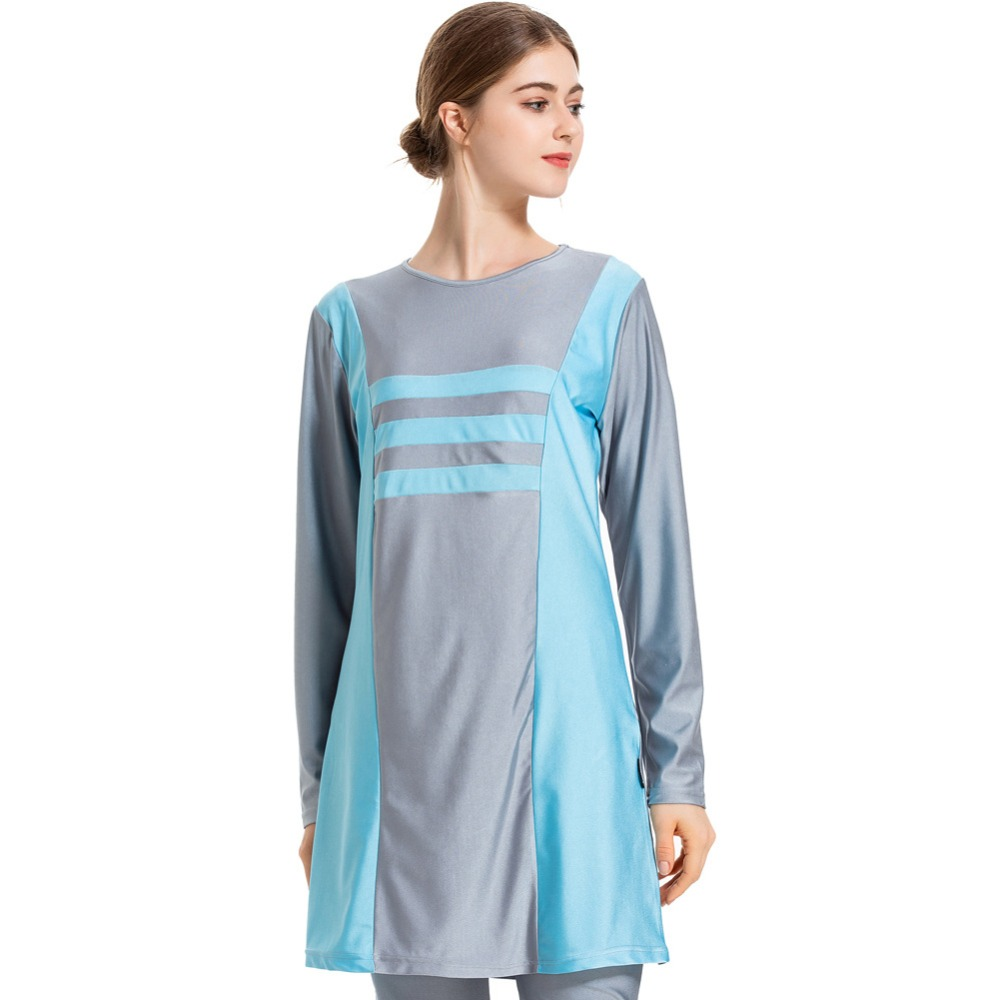 Modest Women Swimsuit Long Sleeves Islamic Hijab Burkinis Muslim Swimwears Female Bathing Suits Plus Size