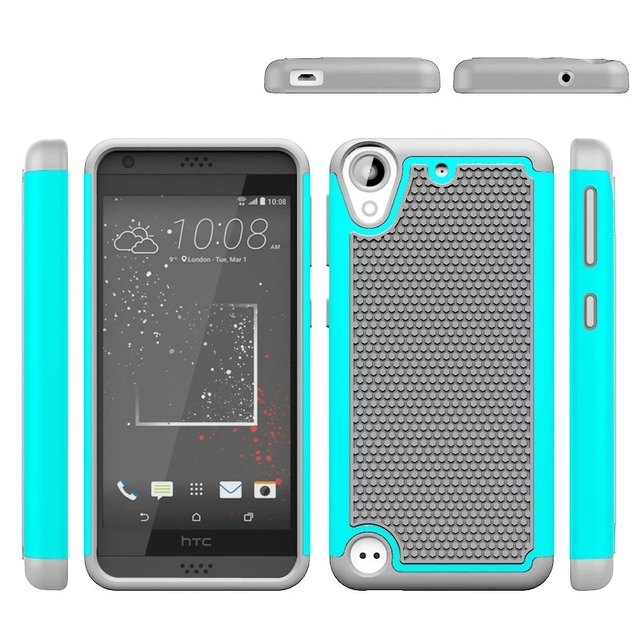 21da48b0589 Para HTC Desire 530 630/Uno M10 M 10 Funda de Silicona Caja de la Armadura  de goma ...