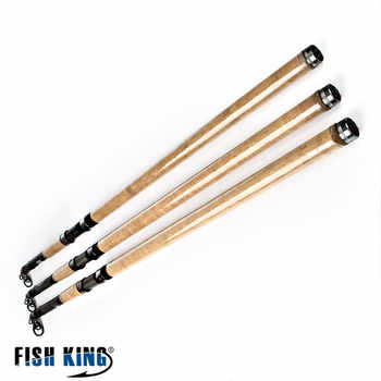 FISH KING Telescopic Surf Rod 3.9M 4.2M 50-150G 5 Secitions 4 Guides Carbon Sea fishing Carp rod Surfcasting rod - DISCOUNT ITEM  20% OFF Sports & Entertainment