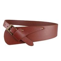 2018 HOT fashion asymmetric Women's wide waist seal personality Ms belt black brown Gold silver buckle ceintures pour femmes