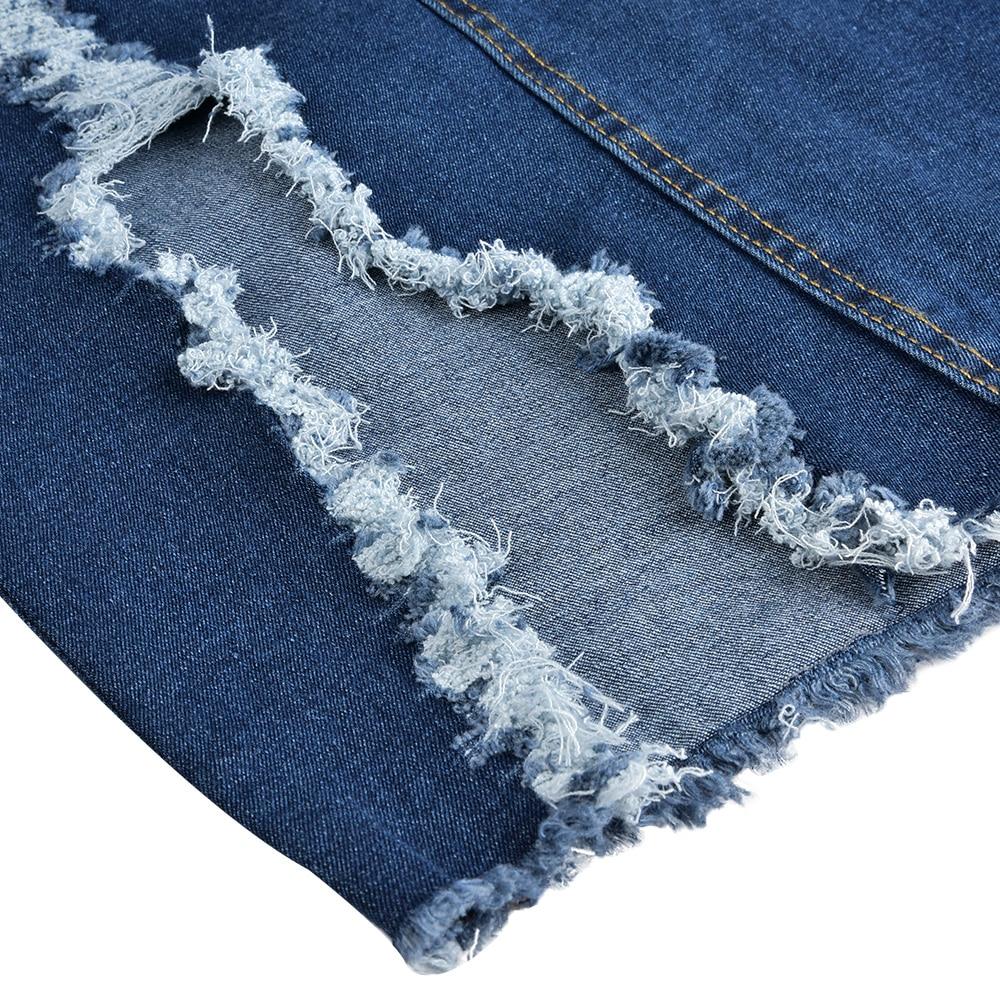 Plus Size Denim Skirt for Women High Waist Ripped Hole Maxi Skirt Ladies Vintage Slim Slit Bodycon Long Skirt Streetwear 5XL H40 in Skirts from Women 39 s Clothing