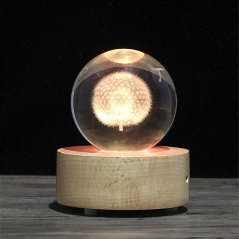 Nuovo Regalo Di Natale Globo di Neve sfera Di Cristallo di music box, di legno speaker Bluetooth - 4