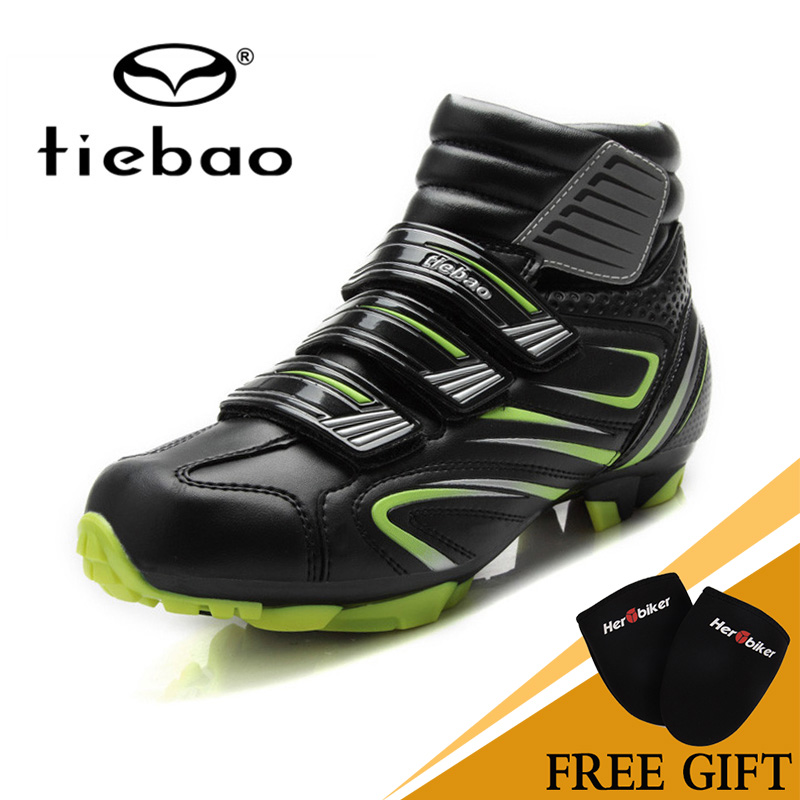 Tiebao Bike Self-Locking MAGIC TAPE Bicycle Shoes Keep Warm Cycling Sport Professional Cycling Shoes Mountain Biking Shoes west biking bike chain wheel 39 53t bicycle crank 170 175mm fit speed 9 mtb road bike cycling bicycle crank