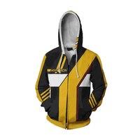 Game Borderland Hoodies Assassin Zero Cosplay Costume 3D Print Sweatshirt Hooded Men Adults Zipper Cartoon Coat Jacket
