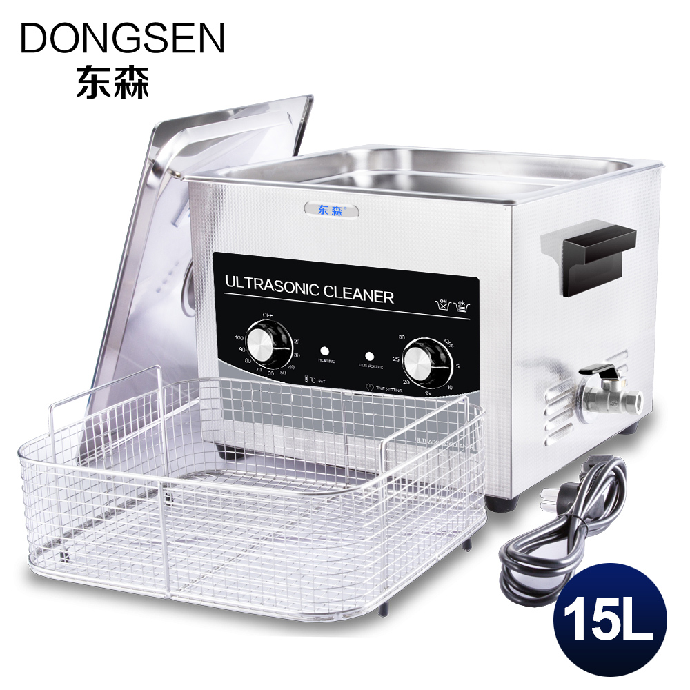 15L Mechnical Ultrasonic Cleaner 360W Electronic Part Golf Club Mold Rust Oil Degreasing Engine Car Part Ultrasound Heater Timer