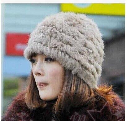 Darmowa wysyłka Han wydanie wydra włosy królika czapka z dzianiny - Akcesoria odzieżowe - Zdjęcie 2