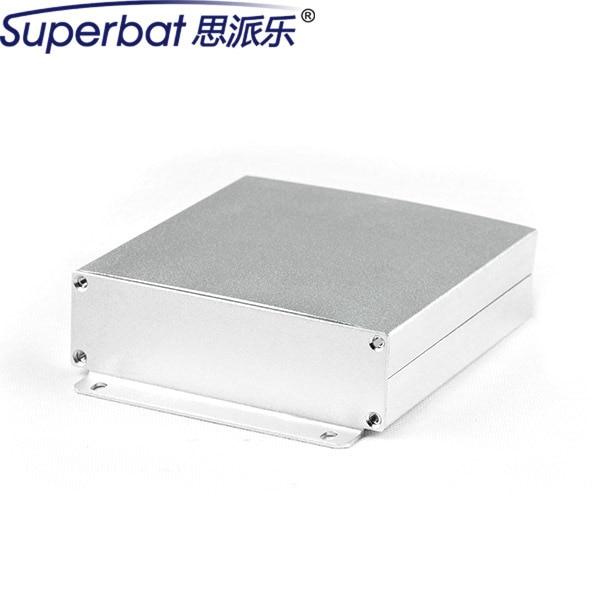"""Carcasa De Aluminio PCB personalizado Grande 4.72*4.49*1.30 """"Caso Caja de Proyecto Electrónico de BRICOLAJE Instrumento 120*114*33mm con Tornillo Del Panel"""