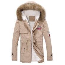 Новая мода мужская зимняя меховая куртка с капюшоном толстые теплые военная шинель парки 3XL 4XL ACL06