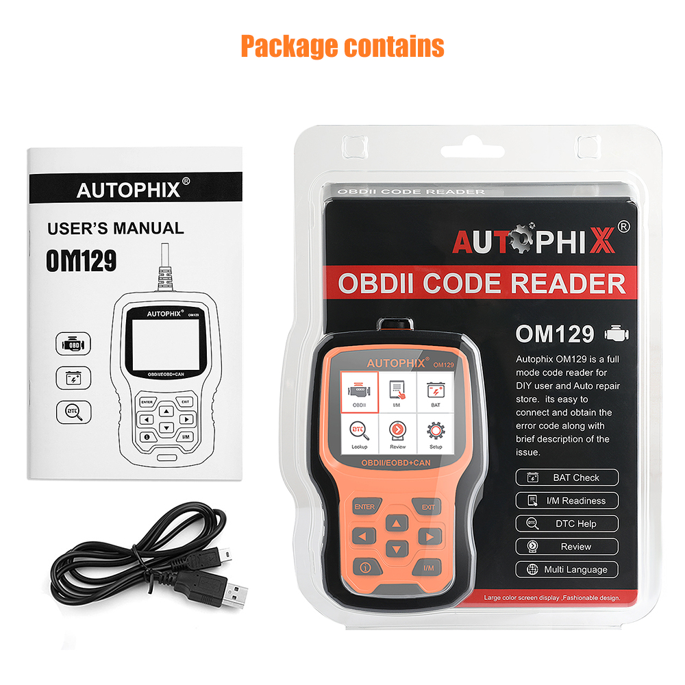 US $46 71 28% OFF|Autophix OM129 OBD2 Scanner Universal Diagnostic Tool  Automotive Auto Tools Engine Battery Car Diagnostic Scan Tool-in Code  Readers