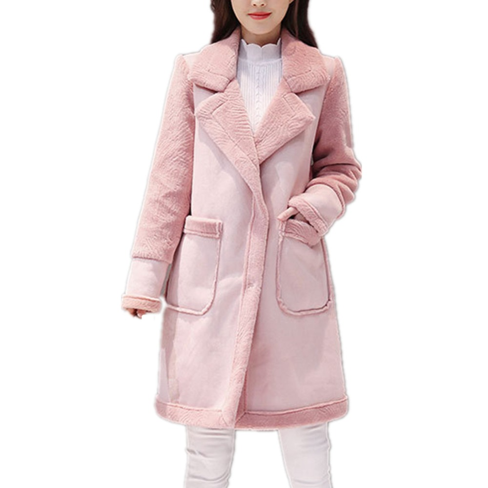 Caldo Faux Pelliccia Del Colore Di Delle Casual Volpe Modo Inverno Lisa Cotone Rosa Giacca Cappotto Donne Colly Furs brown Soprabito Spessore lavanda Nuove PHYqvO