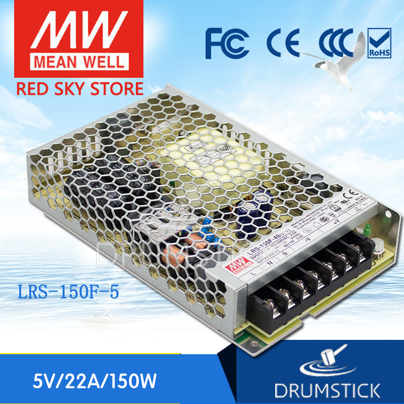 Genuine MEAN WELL original LRS-150F-5 5V 22A meanwell LRS-150F 5V 110W Single Output Switching Power Supply