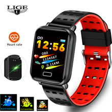 LIGE 2019 New Smart Bracelet Heart Rate Blood Pressure Monitoring Fashion Sport Fitness Tracker Watch Pedometer Band+Box