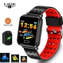 LIGE 2019 New Smart Bracelet Heart Rate Blood Pressure Monitoring Fashion Sport Fitness Tracker Watch Pedometer Smart Band+Box