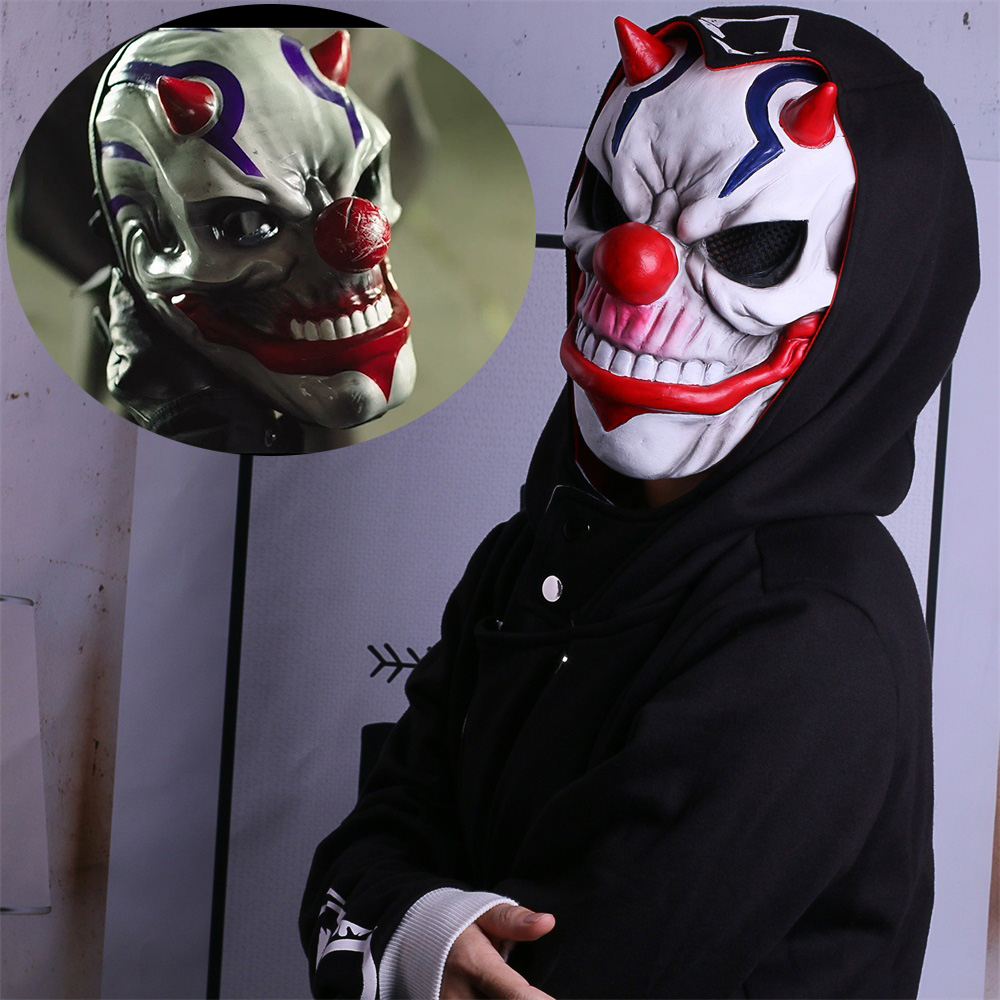 PAYDAY 2 Mask Rust Masks Game Payday 2 mask Cosplay Resin Red Nose Halloween Party Prop