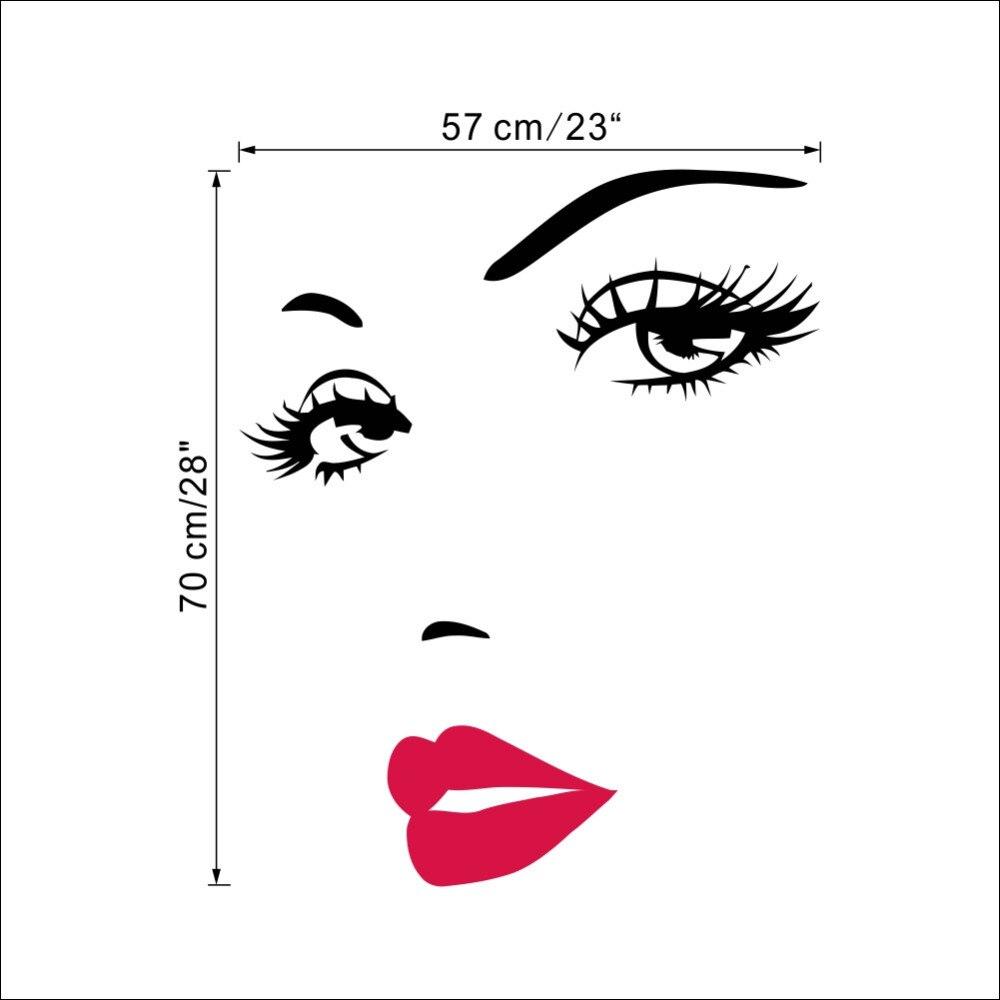 Marilyn Monroe Red Lips Vinyl Wall Stickers Art Mural Home Decor  -> Adesivo Com Foto