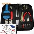 Para relojeros reloj Kit de herramientas de reparación batería cambiar Remover Tool Kit 16 unids un conjunto con el bolso