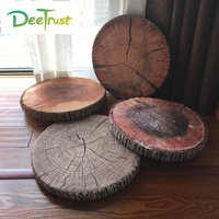 New Creative 3D Ring Stump PP Cotton Office Chair Seat Cushion Sofa Throw Pillow