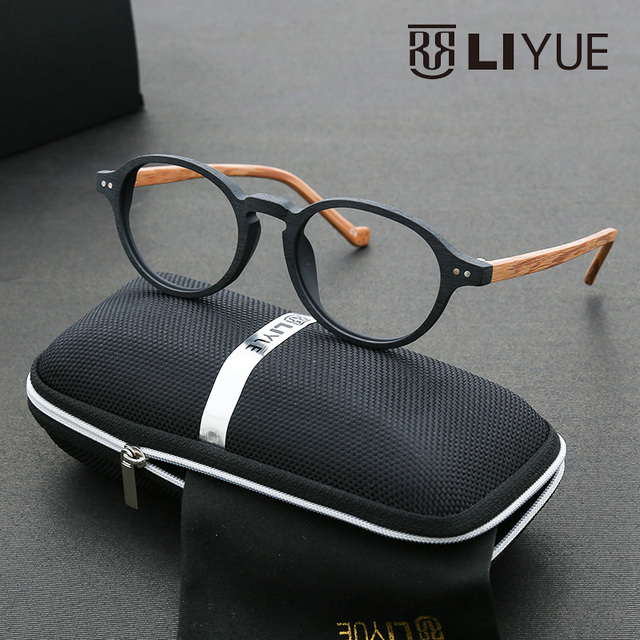 8a04caab7b7 nerd glasses 2016 myopia round glasses gold wood glasses frames  prescription eyewear vintage spectacle frames retro