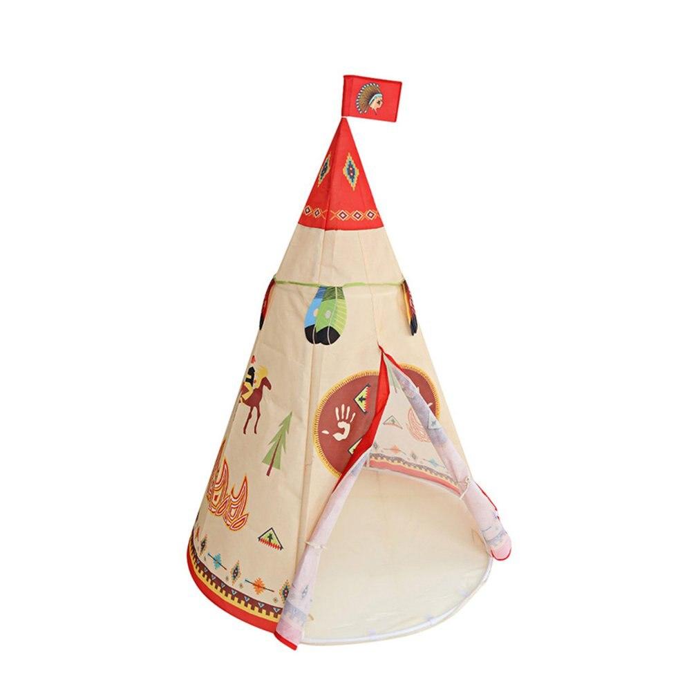 Portable tente indienne fée enfants tente bébé jouet maison enfants jouer tente coton tentes bébé maison de poupée tipi maison