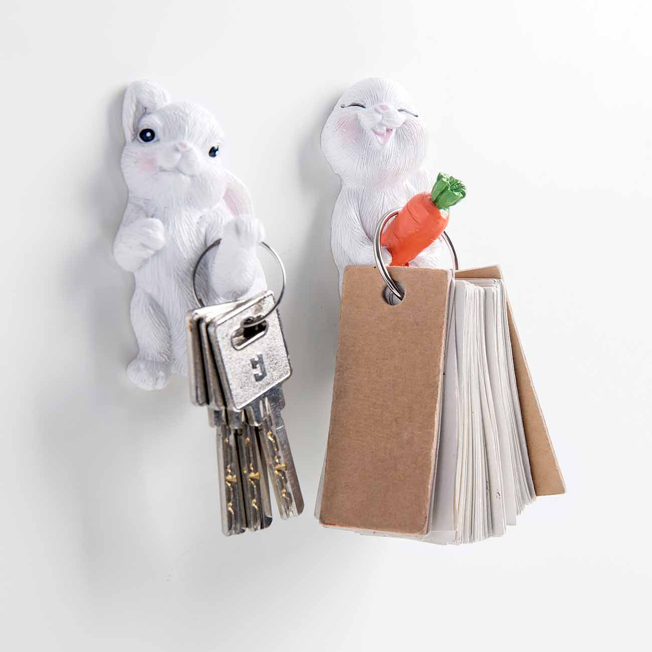 OTHERHOUSE Cute Animal-shaped Hook Key Hangers Coat Hanger Creative Rabbit Model Bathroom Wall Holder Children Room Hooks