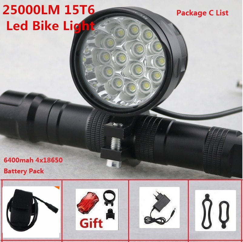 XML T6 LED Bike Bicycle Front Headlight Waterproof Headlamp fit Night Cycling C