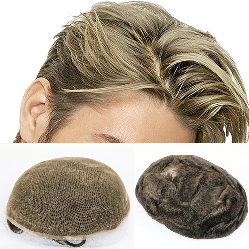 b4e6bb7ef Cheap Toupees, Buy Directly from China Suppliers:SimBeauty Virgin Human  Hair Men's Toupee 10x8