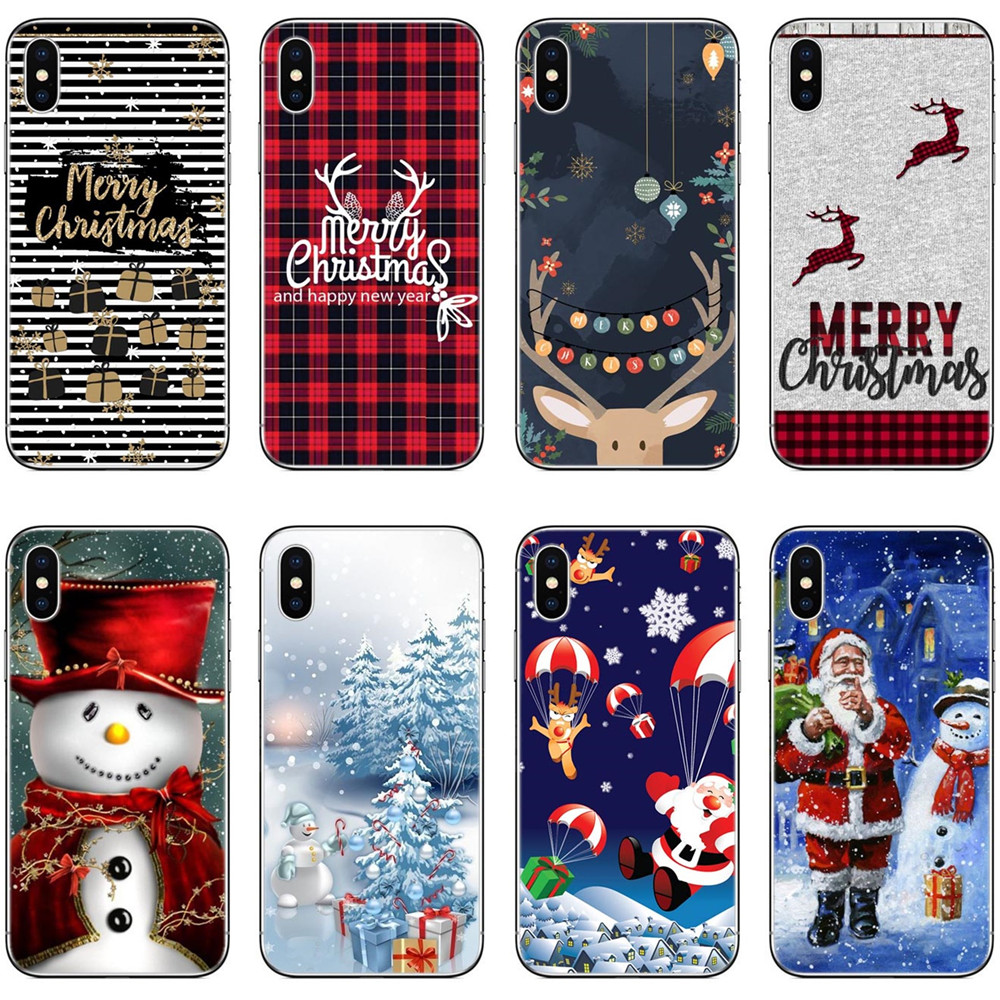 Christmas Iphone X Case.Us 1 72 42 Off Lovely Santa Claus Elk Case For Iphone X Case Cartoon Christmas Painted Cover Fashion Hard Cases For Iphone 5 5s Se 6 6s 7 8plus In
