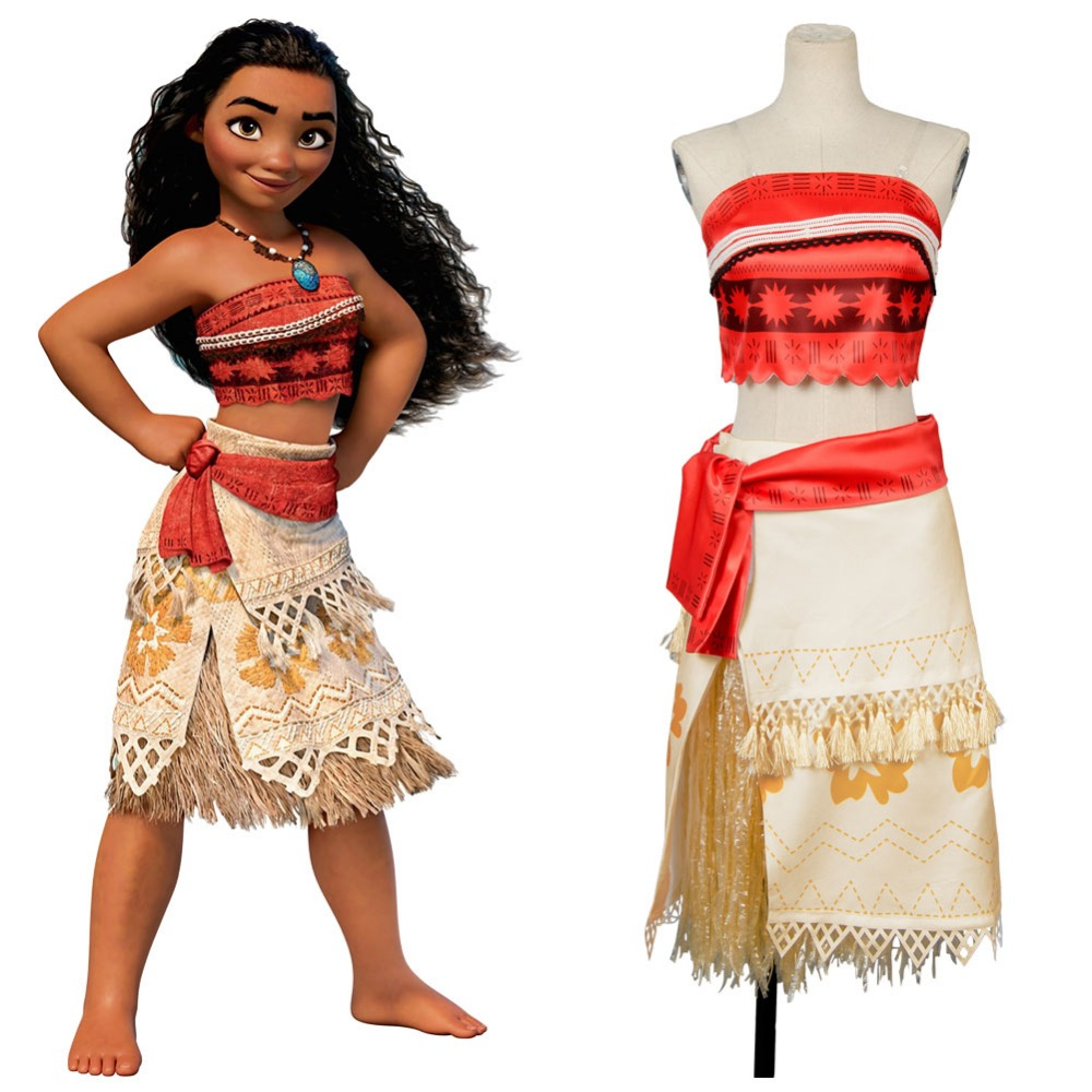 Moana Princess cosplay Moana Dress Cosplay Costume Full Set UniformHalloween Carnival costume for adult women