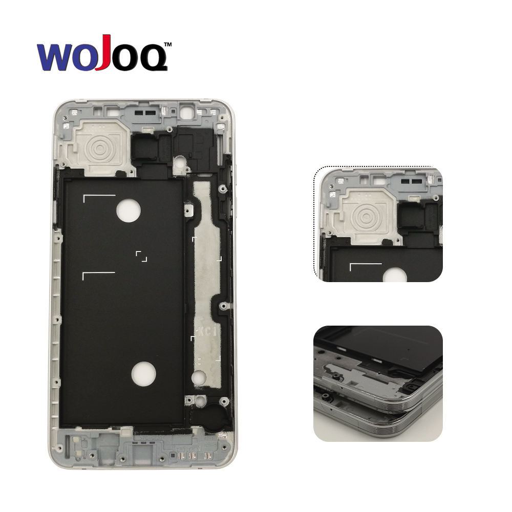 WOJOQ Original Middle Frame For Samsung J7 2016 J710 Middle Frame Housing Chassis plate with side key Replacemenrt FREE SHIPPING ...