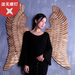 Ancient Iron Wall decoration angel wings Creative Retro wings Bar Cafe Wall decor. Home decoration accessories Angel wings decor