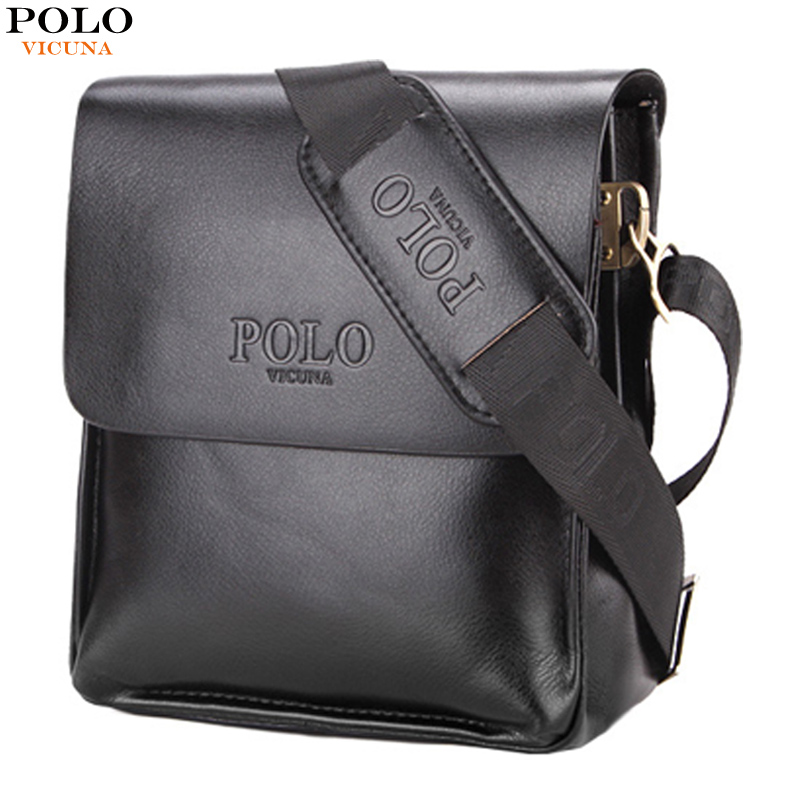 VICUNA POLO Famous Brand Leather Men Bag Casual Business Leather Mens Crossbody Bag Vintage Messenger Male Bags Fashion New Bag