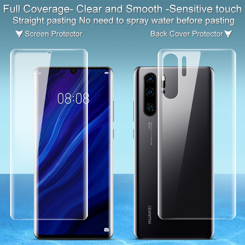Imak 2pcs Clear Hydrogel Film 3th Gen For Huawei P30 Pro 3D Full Cover Protector For Huawei P30 Pro Soft Screen Protector