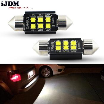 IJDM samochód 36mm led wysokiej jakości C5W C10W LED samochodów światła festynowe Auto oświetlenie tablicy rejestracyjnej wnętrze lampa kopułkowa żarówka do czytania biały tanie i dobre opinie CN (pochodzenie) 650lm Festoon-36mm 12 v WHITE 50g Pair Uniwersalny 36mm led 36mm festoon 36mm led canbus c5w c10w C5W CREE Chip Led