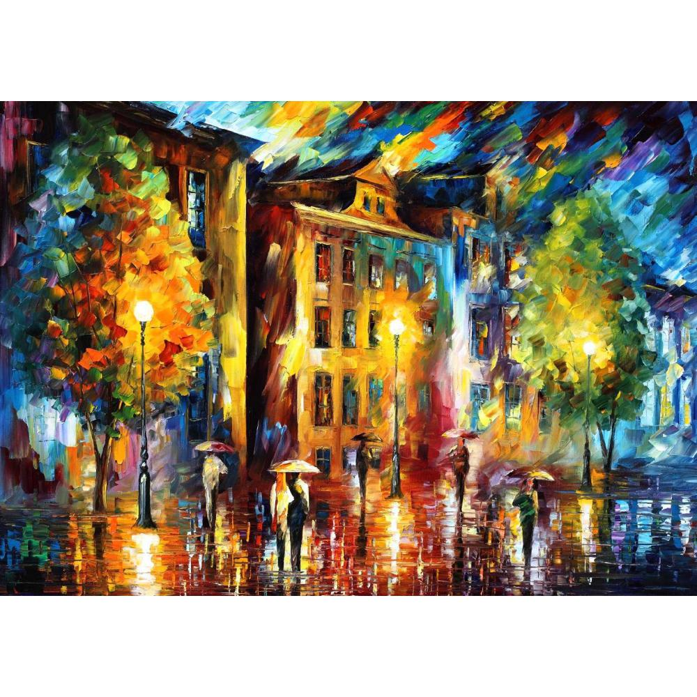 Modern art paintings for sale night enigma knife oil - Landscape paintings for living room ...