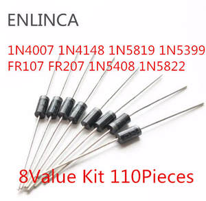 8-Value Diode-Kit 1N4148 1N5408 FR207 1N60 1N5817 1N5399