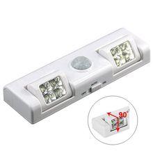 90 Degree 8 LED Under Cabinet Light PIR Motion Sensor