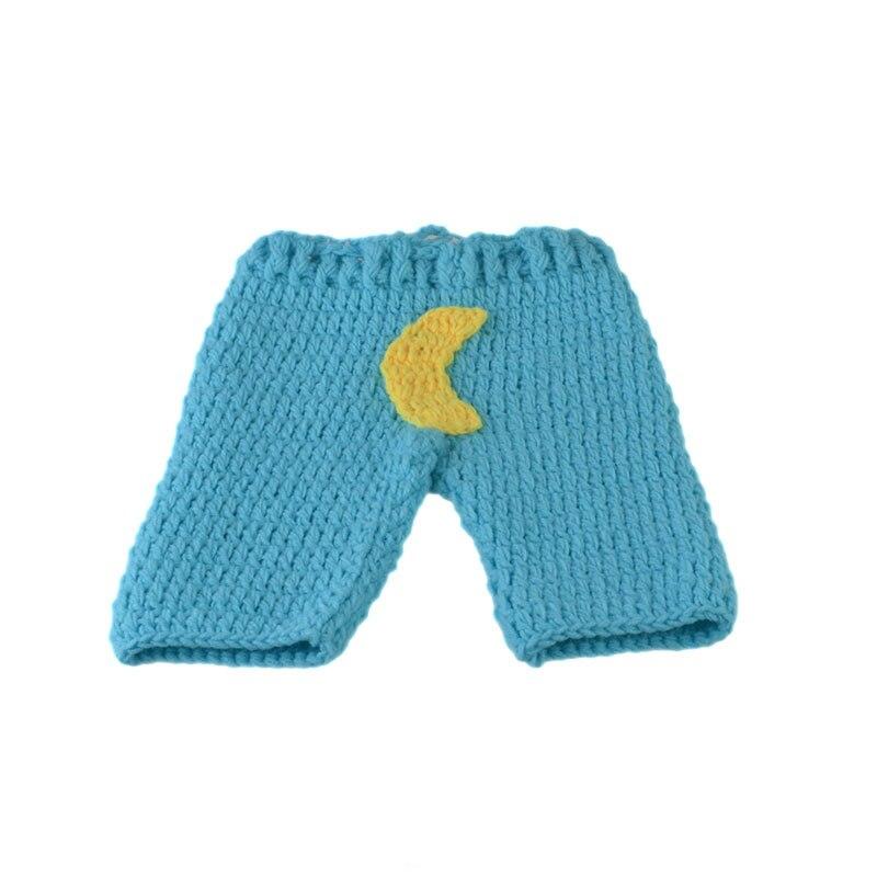 Blau Farbe Sterne Mond Häkeln Baby Fotografie Requisiten Gestrickte ...