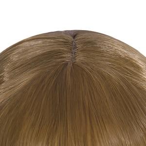 Image 4 - L e mail peruca boneca halloween annabelle cosplay perucas 65cm marrom reta peruca de cabelo sintético perucas cosplay