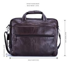 JOYIR Men Briefcases Genuine Leather Handbag 15″Laptop Briefcase Messenger Shoulder Crossbody Bag Men's Bag Business Portfolio