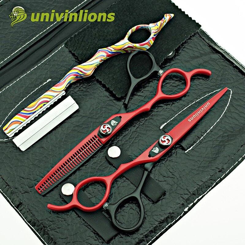 univinlions 6 left handed scissors for left handed hairdressing scissors left handed barber scissors hair cutting shears lefty