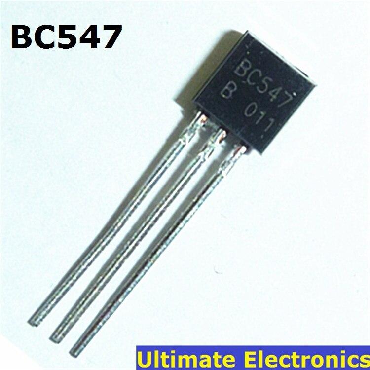 50pcs BC547 45V 0.1A TO-92 NPN Transistor