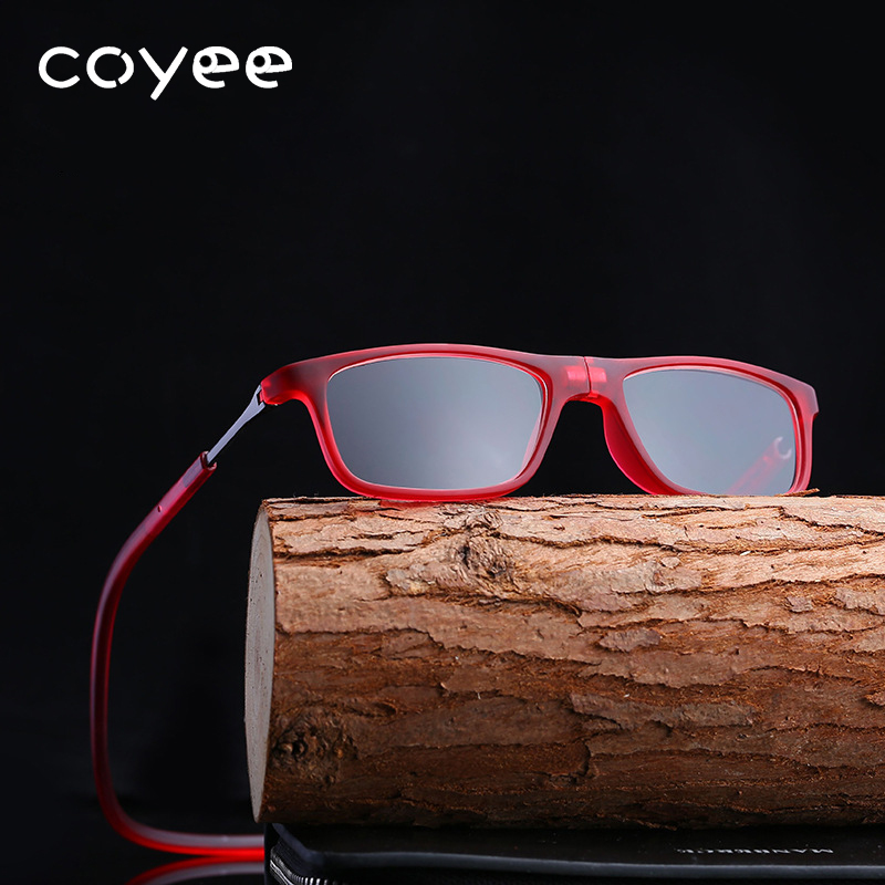 Coyee 3 colors Magnet hanging neck reading glasses for reader Brand New +1.00 to +4.00 d ...