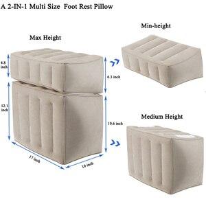 Image 5 - Şişme sökülebilir Footrest yastık çocuklar uçuş Footrest yastık ayrı olarak 3 farklı yükseklik seyahat yastık ayak pedi
