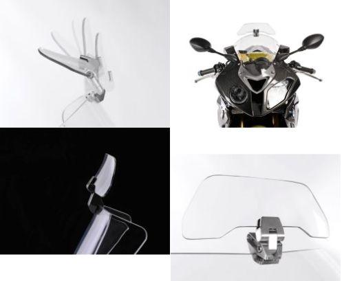 Airflow Adjustable Windscreen Wind Deflector For Honda Yamaha Suzuki Kawasaki BMW KTM Aprilia Ducati Windshield models Universal